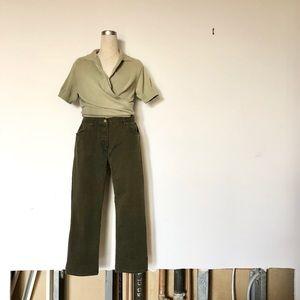 Jones New York Sport Petite - Dark Green Jeans